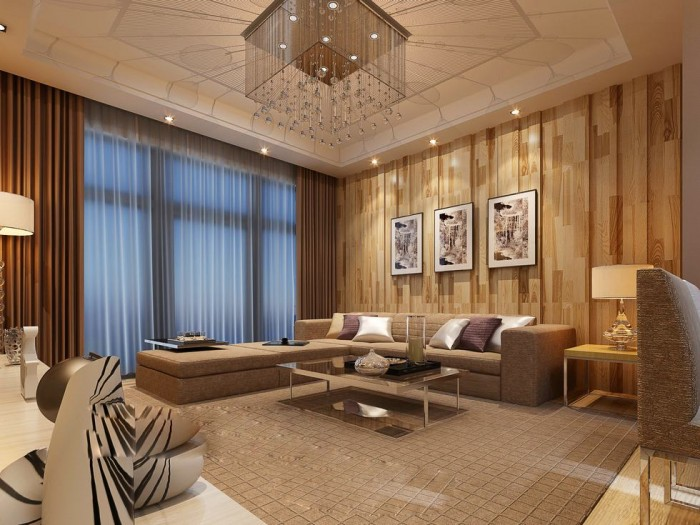 Exercise in Interior Adaptation angular-chandelier-ceiling-triple-print-lounge-luxury-china