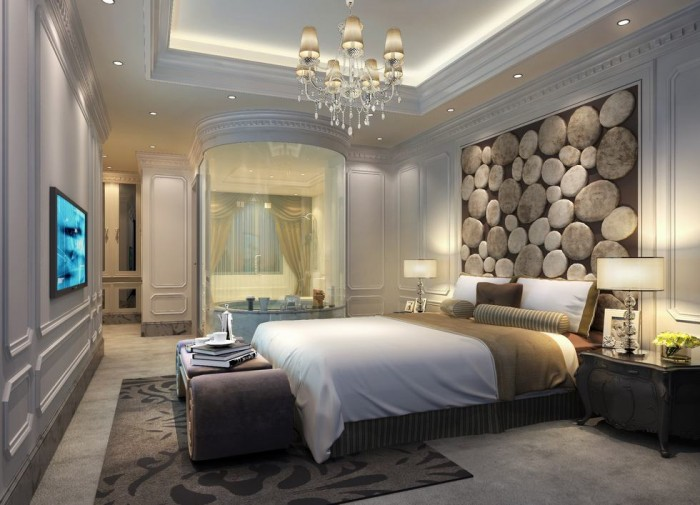 Exercise in Interior Adaptation bedroom-headboard-stone-feature-wall-china