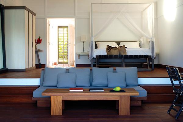 Exotic Getaway Resort for Living-Room wooden floor Caribbean Sea