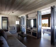 Exotic Getaway Resort for Wooden-Living Room grey long sofa Caribbean Sea