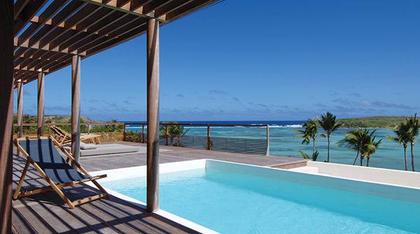 Exotic Getaway Resort large pool Beautiful-Paradise Caribbean Sea