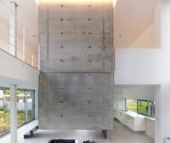 Fascinating hidden lights Cool mezzanine EINS house Glass wall