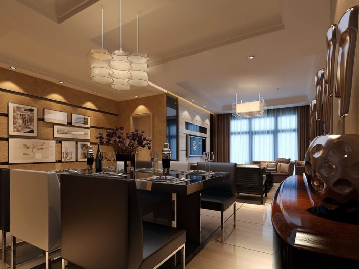 Flat Screen Luxury Angular Dining Lightbox China Exercise In Interior Adaptation