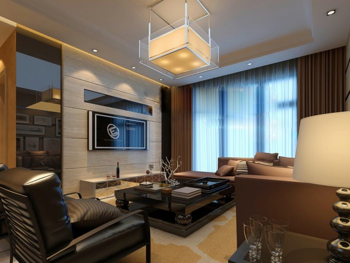Flat Screen Luxury Angular Living China Exercise In Interior Adaptation