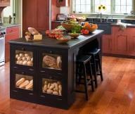 Food Racks Black Kitchen Island Black Bar Stools Woodne Floor