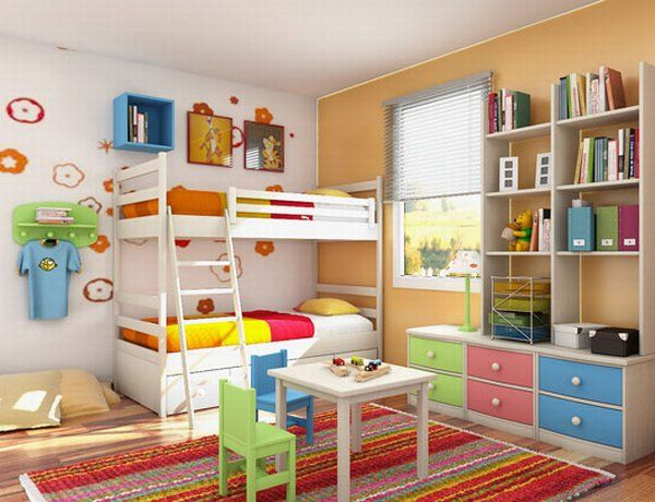 Fresh Room Designs children-room-interior-ideas colourfull rug Room Designs for Kids