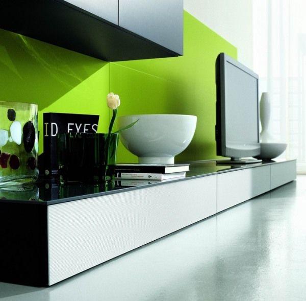 Fresh flower Porcelain bowl Sleek marble floor Modern TV setup