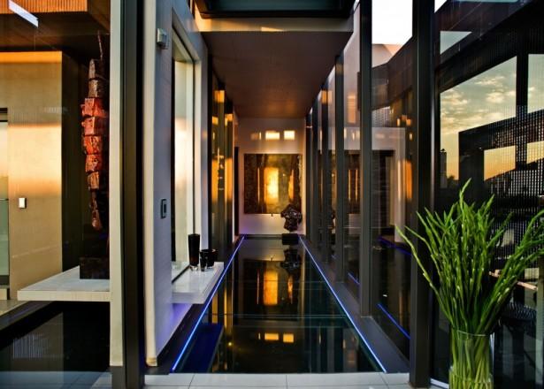 Fresh indoor plant House Cal  Long corridor Precious hidden light