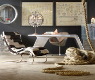 Futuistic sofa black wall Vintage Room Designs  ideas Creative and Inspiring Eclectic