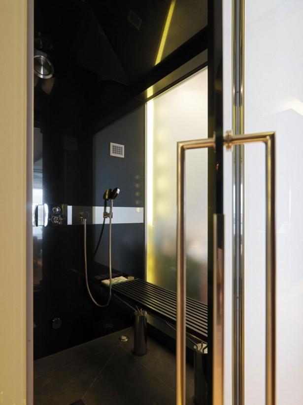 Glass Door Black Wall Bathroom Wall Lamp Single Shower