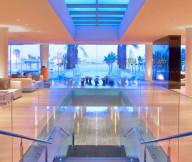 Glass railing Stainless steel baluster Cool hidden lights Luxurious furniture