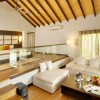 Glass railing White bed sofa Box coffee table Stylish beadboard