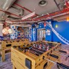 Google Tel Aviv office Rustic wood floor Innovative pendant lamp