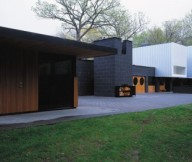 Green Lawn Black Wall FLat Roof Modern Sense