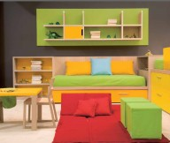 Green and Yellow Small Bedroom Decorating Ideas