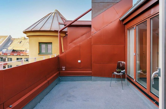 Grey Roof Floor Red Roof Yellow Wall