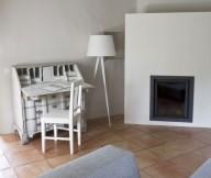 Grey Sofa Cream Floor White Desk Modern Firepace White Standing Lamp