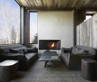 Grey Sofa Grey Rug Ivory Color Wall Wide Window