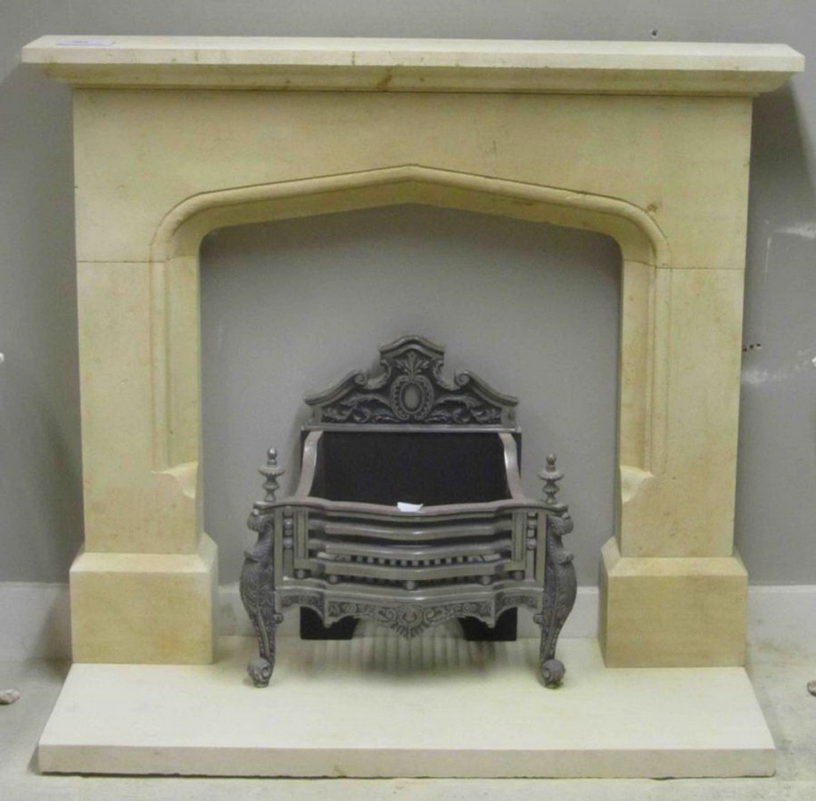 Grey Wall Cream Fireplace Classic Look Vintage Design