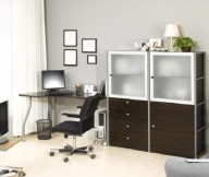 Grey Wall Cream Floor Black Swivel Chair Minimalist Look