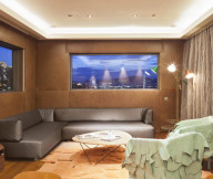 Grey long sofa Artistic and Unconventional Design tv wall Design Showcased
