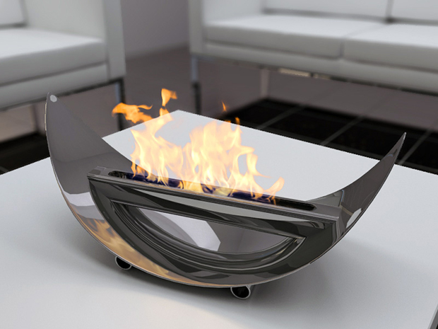 Handy Stuff Stainless Steel Material Electric Fireplace Modern Sense