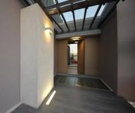 Hidden Lamps Grey Floor Glass Canopy White Stone