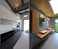 Hidden Lamps Minimaist Mirror Grey FLoor Double Sinks