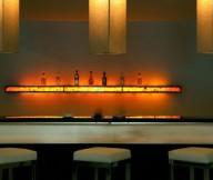 Hidden Lamps White Bar Stools Beige Wall Hidden Lamps