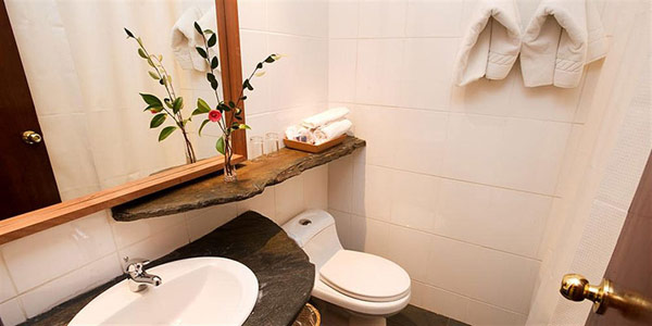 Iconic Antumalal Hotel for bathroom white sink white towels Hotel In Chile