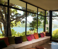 Iconic Antumalal Hotel sofa-living-room-lake-view Hotel In Chile