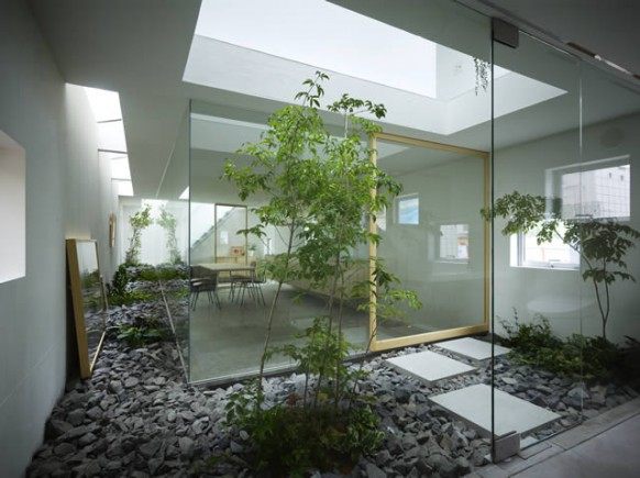 Indoor Landscape ideas skylight Courtyard Design and Landscaping