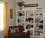 Indor Plants White Rack Brown Sofa Typical Motive Cushion