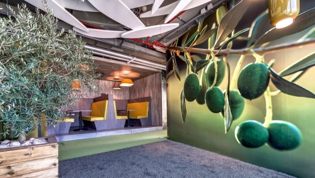 Inspiring wallpaper Stylish bench Google Tel Aviv office