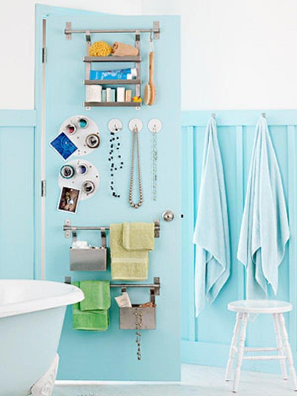 Instant Bathroom Shelves Baby Blue Wall Baby Blue Towels Steel Towel Handlers
