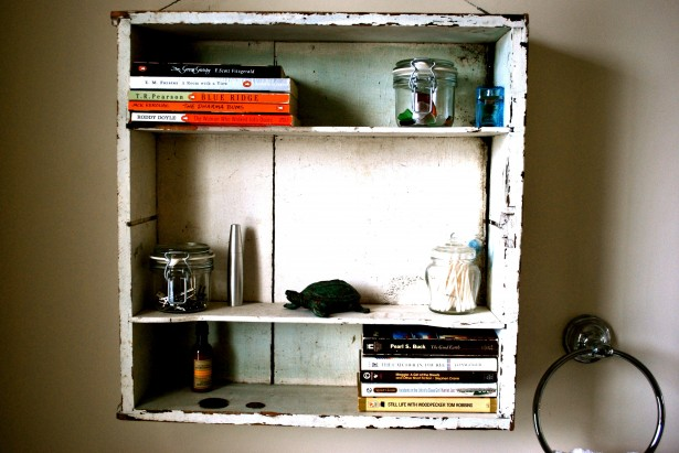 Instant Bathroom Shelves White Former Industrial Shleves VArious Books