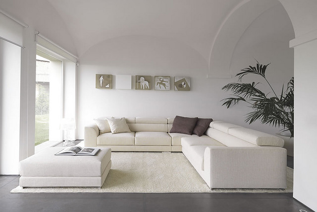 Ivory Color Sofas White Wall Ivory Color Rug Minimalist Look