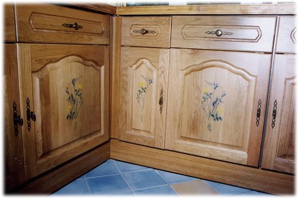 Kitchen Cupboard Doors Black Yellow Floral Picture Doors Copper Door Handler Blue Floor