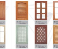 Kitchen Cupboard Doors Brown Ornamented Door Green Pattern Door Glass White Door