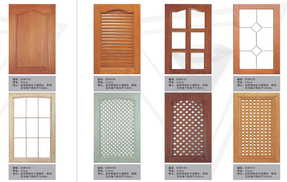 Kitchen Cupboard Doors Brown Ornamented Door Green Pattern Door Glass White Door