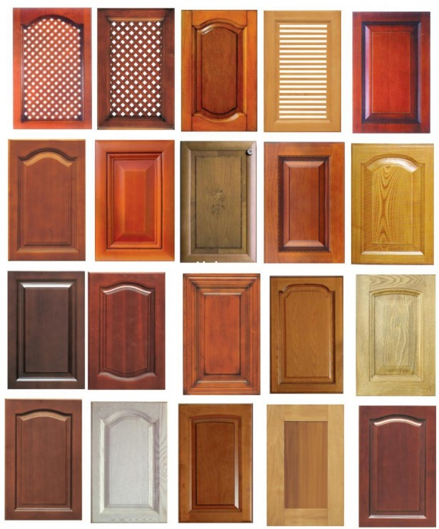 Kitchen Cupboard Doors Solid Wood Door Yellow Door White Door Dark Brown Door Reddish Brown Door