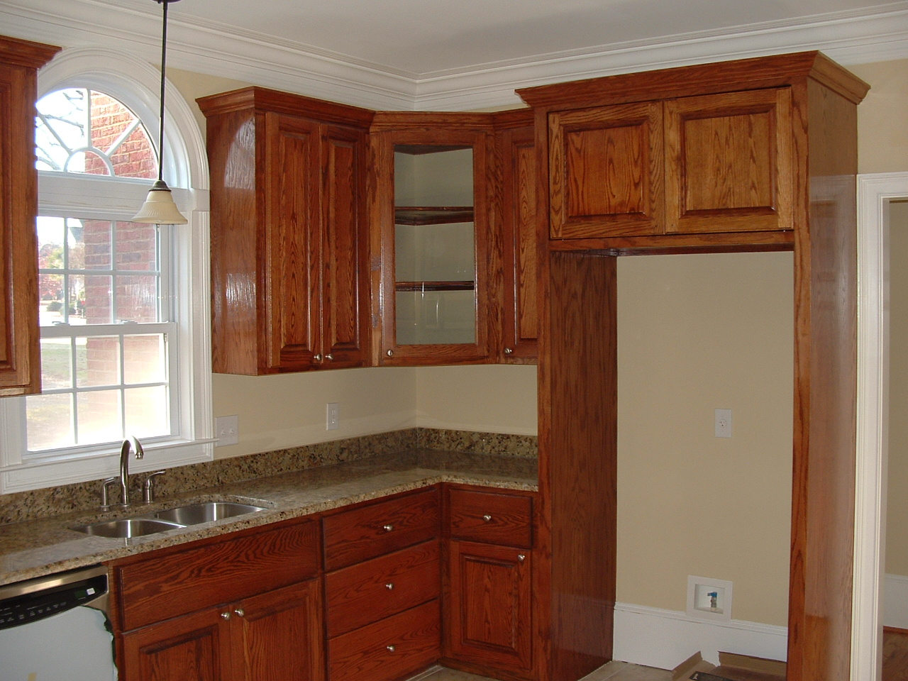 Kitchen Cupboard Doors Stained Kitchen Cabinets With Pocket Doors Over Fridge Closed Corner Cabinet White Windows Steel Tap