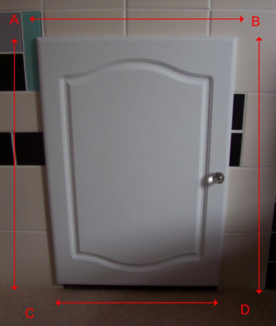 Kitchen Cupboard Doors White Door Cream Tiles