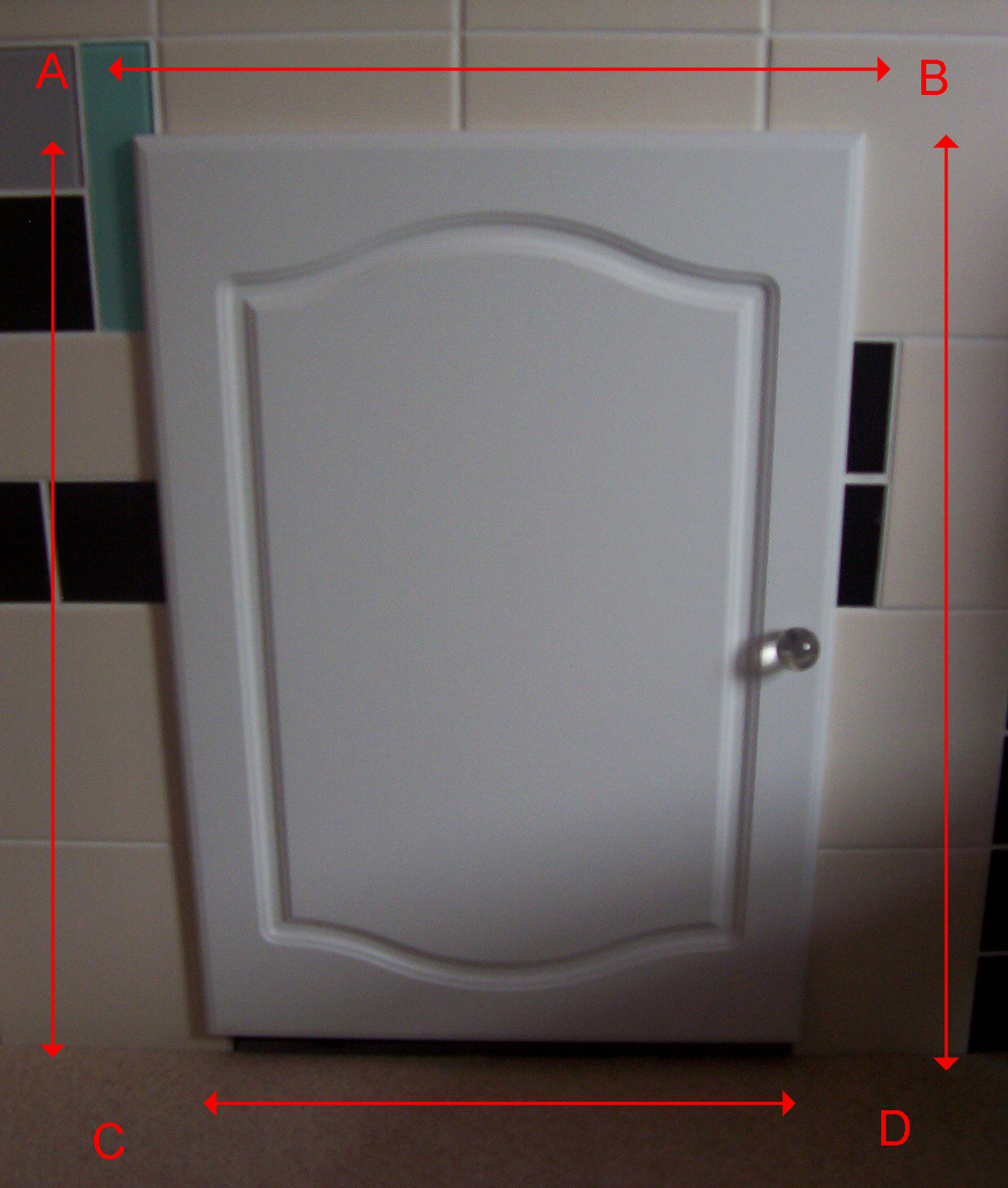 Kitchen Cupboard Doors White Door Cream Tiles