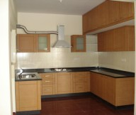 Kitchen Cupboards Ideas Cream Backspalsh Brown Floor Wooden Cabinets