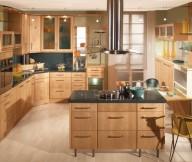 Kitchen Cupboards Ideas Glass cabinet Doors Steel Chimney Yellow Chair