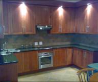 Kitchen Cupboards Ideas Hidden Lamp Wooden Cabinets Cream Floor