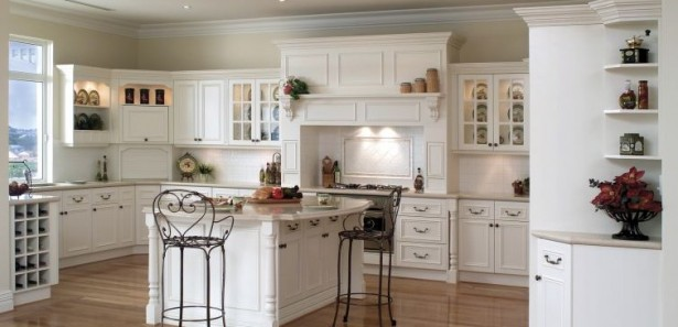 Kitchen Cupboards Ideas White Cabinets White Shelves White Island Steel Chairs