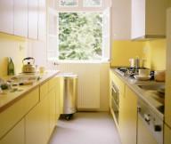Kitchen Cupboards Ideas Yellow Under Cabients White Upper Cabinet Grey Floor Yellow Backsplash