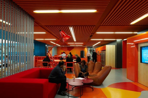 ANZ Business Centre Play Hub View Colorful Creative Office
